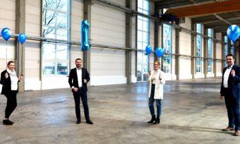 Das vierköpfige Team feiert ein erfolgreiches erstes Jahr. Bild: Büfa Thermoplastic Composites