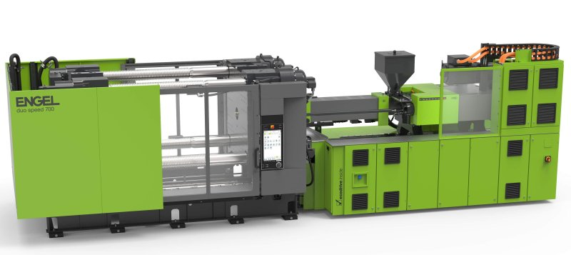 Die neue, auf Verpackungs- und Logistikanwendungen zugeschnittene Spritzgiesßmaschine basiert auf mehr als 25 Jahren Erfahrung mit Zweiplattengroßmaschinen (Bild: Engel).