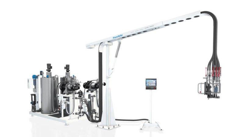 Die Maschine benötigt lediglich 4,8 m² Fläche (Bild: KraussMaffei).