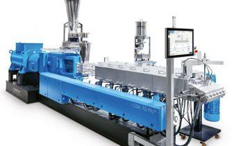 Mit Doppelschneckenextruder können 1000 t des biobasierten Werkstoffs pro Jahr produziert werden (Bild: Coperion).