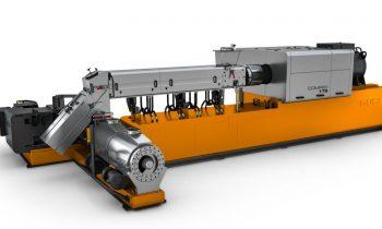 Für die Aufbereitung von Weich-PVC ausgelegtes Compoundiersystem in Kaskadenanordnung (Bild: Buss).